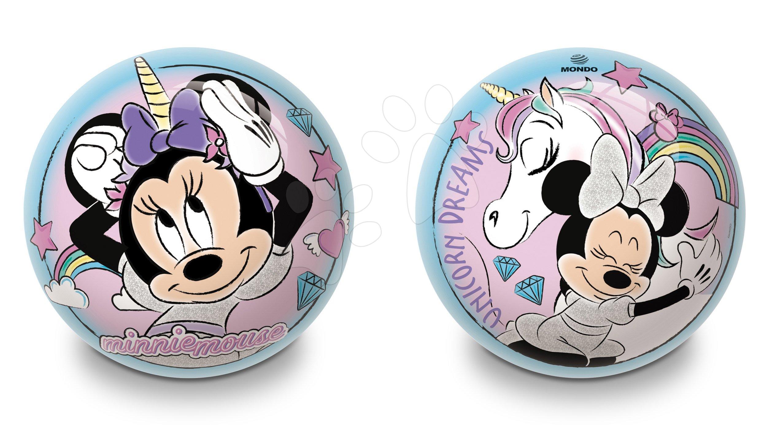 Rozprávkové lopty - Rozprávková lopta Minnie Mondo gumená 14 cm