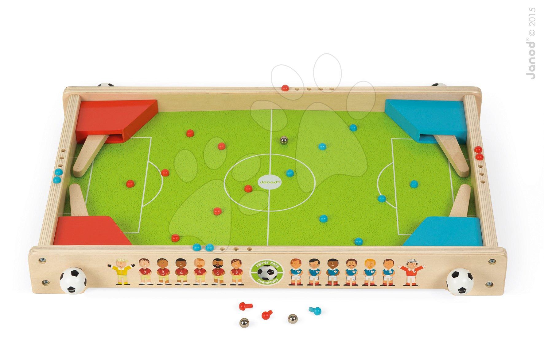 Dřevěná fotbalová hra Flipper Foot Champions Janod od 3-8 let