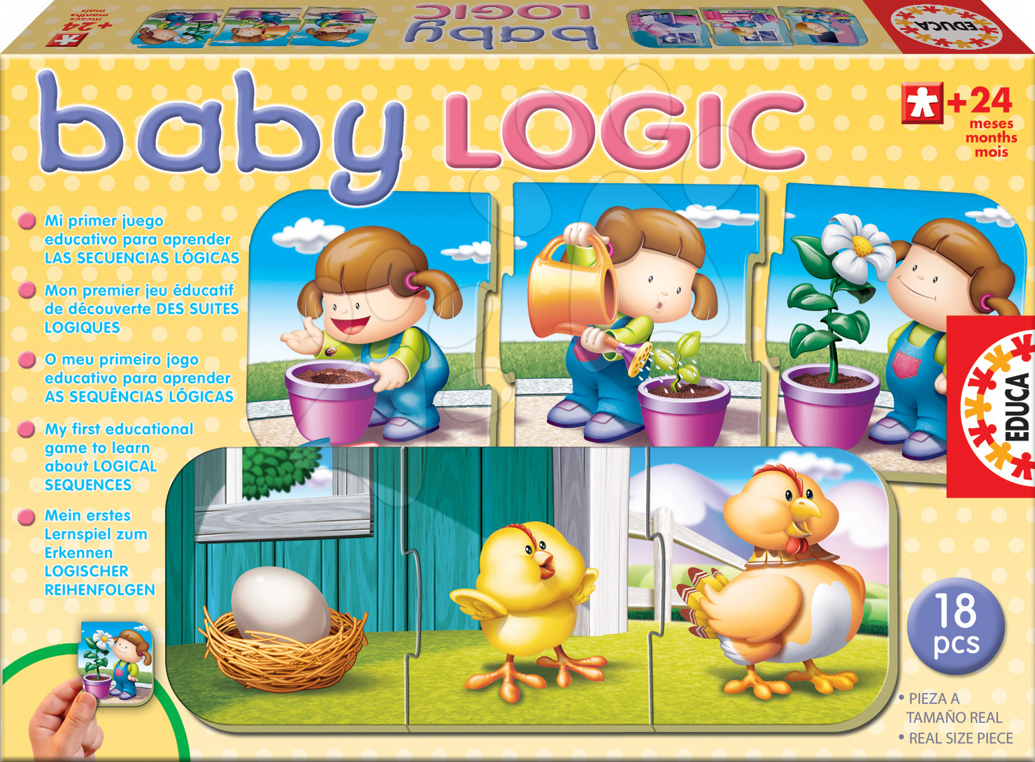 Baby Logic puzzle Educa 18 dielov od 24 mes