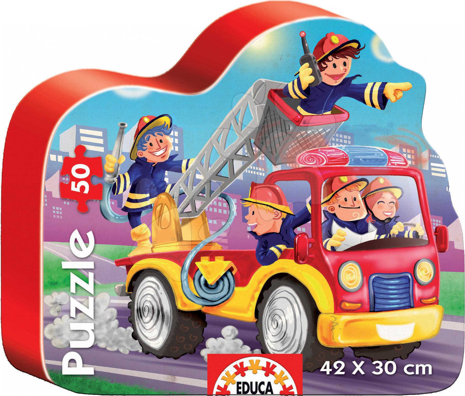Baby puzzle silueta Hasiči Educa 50 dielov
