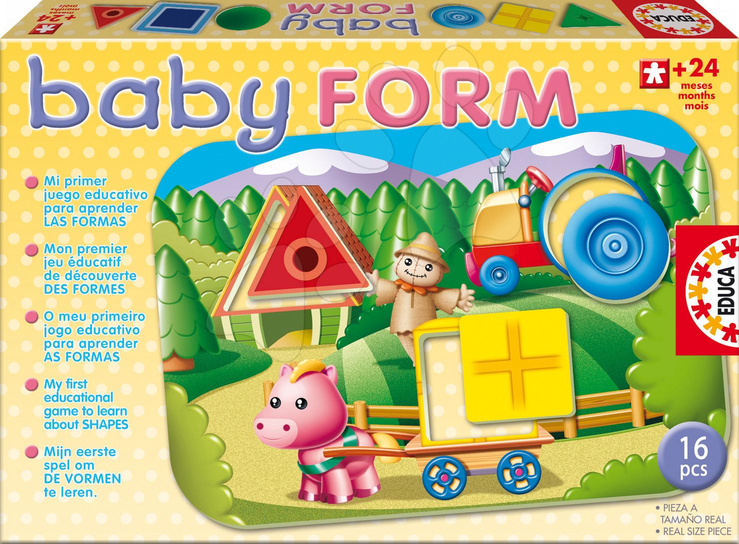 Készségfejlesztő játék Formák – bébi Educa 16 db 24 hó-tól