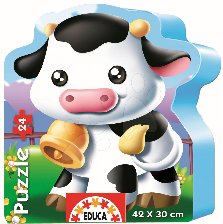 Baby puzzle silueta Kravička Educa 24 dielov