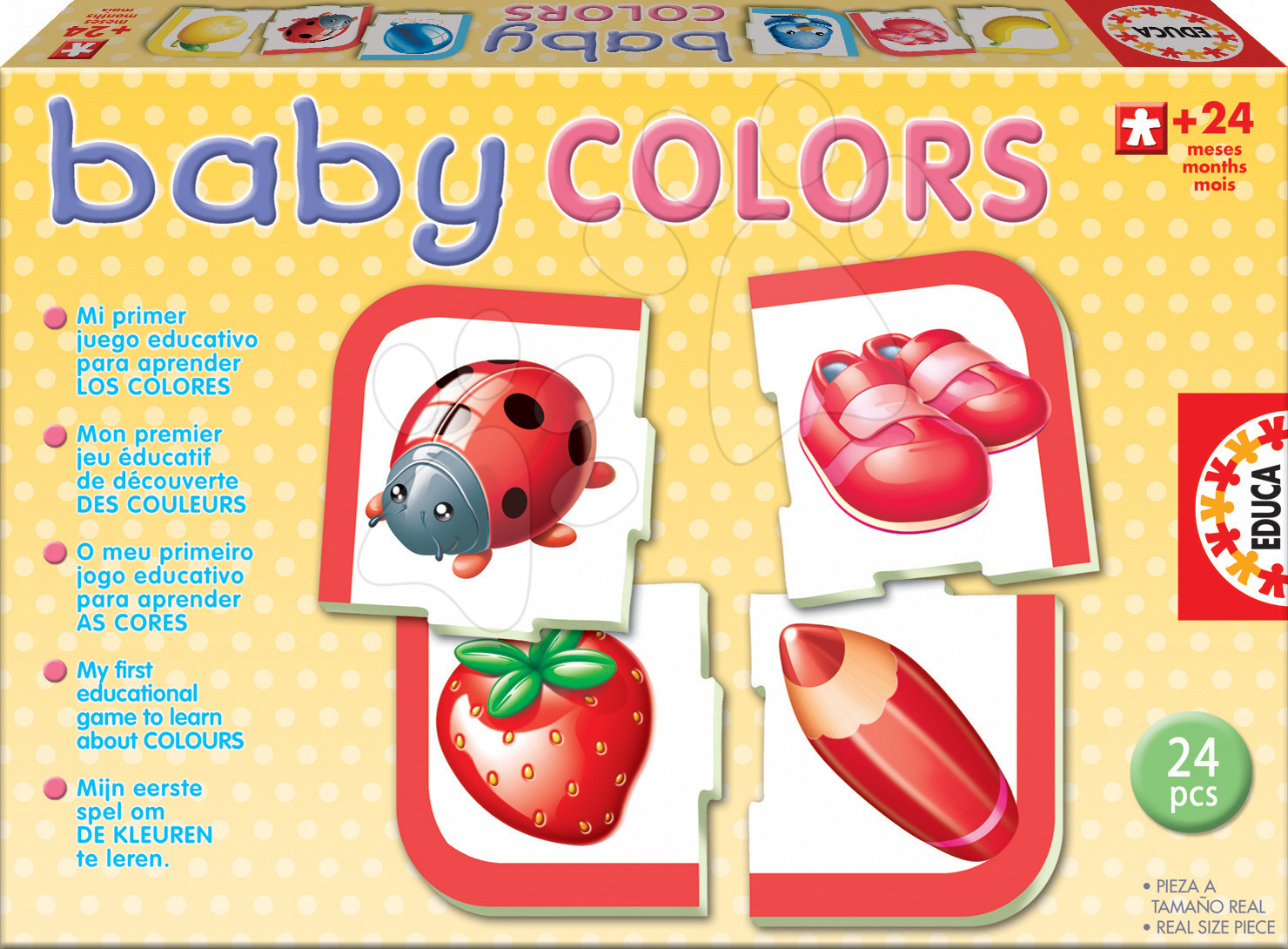 Educa 14298 PUZZLE Baby colours, farby 24 ks od 24 mes