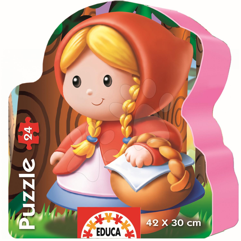 Baby puzzle silueta Červená čiapočka Educa 24 dielov