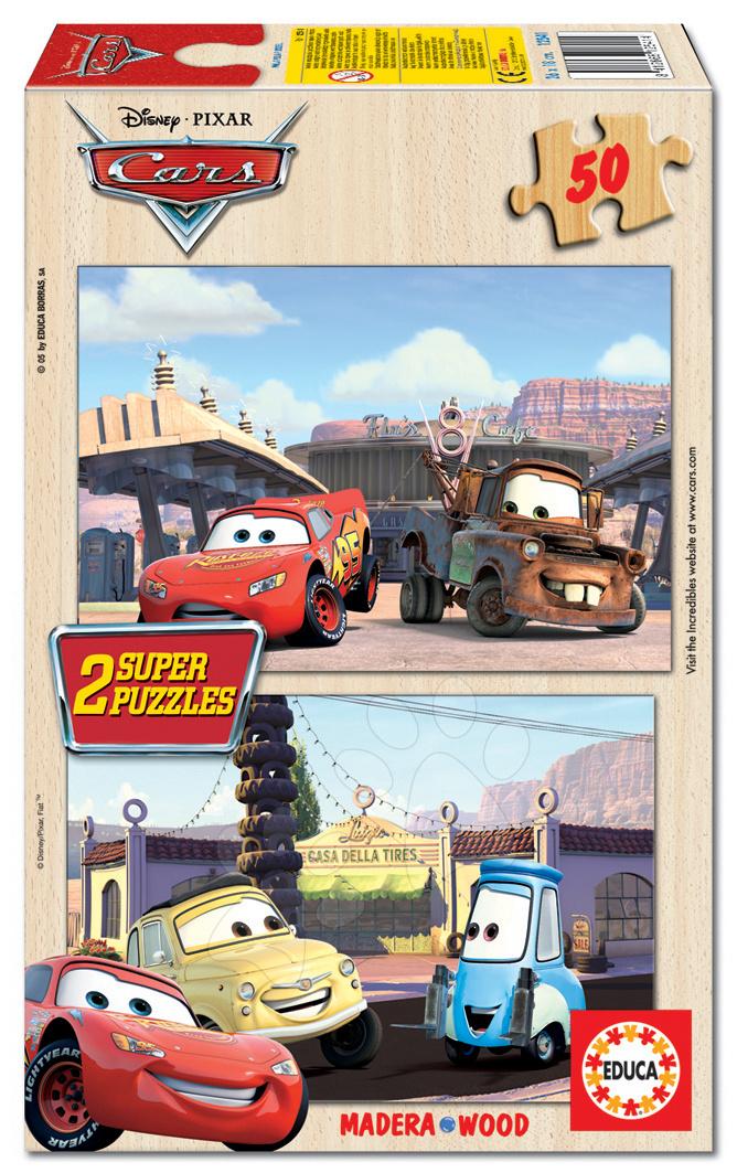 Fából készült Disney - Fa puzzle Verdák Educa 2x 50 db 5 évtől
