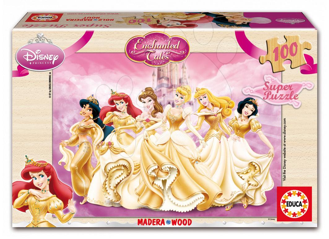Dřevěné Disney puzzle - Dřevěné puzzle Princezny Educa 100 dílů od 5 let