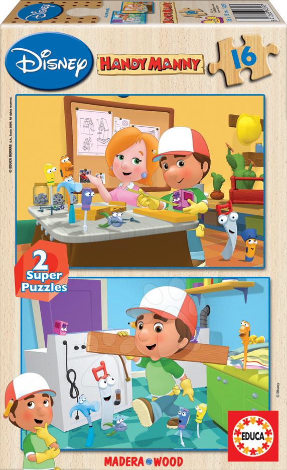 Dřevěné puzzle Handy Manny Educa 2x16 dílů