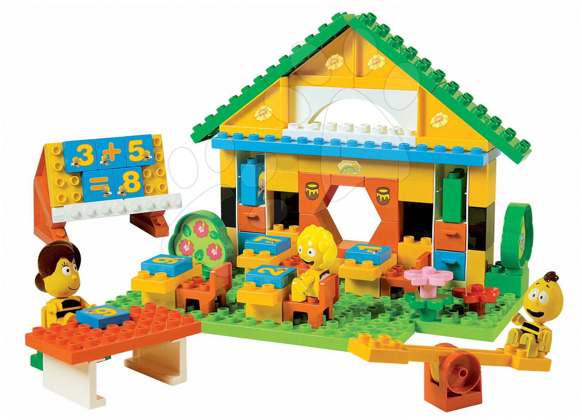 Stavebnice BIG-Bloxx ako lego - Stavebnica PlayBIG Bloxx BIG Včielka Maja v škole s 3 figúrkami 100 dielov od 18 mes