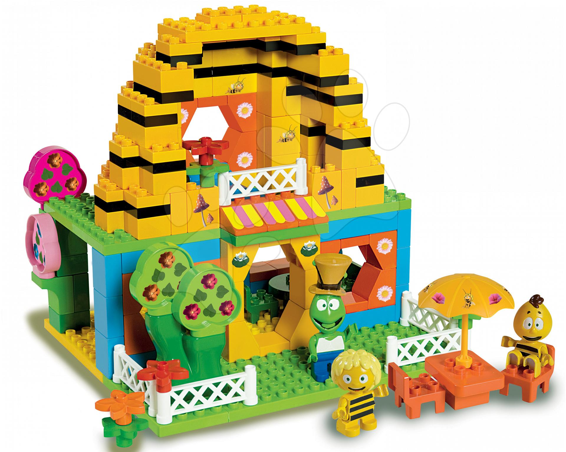 Stavebnice BIG-Bloxx ako lego - Stavebnica PlayBIG Bloxx BIG Včielka Maja v domčeku s 3 figúrkami 213 dielov od 18 mes