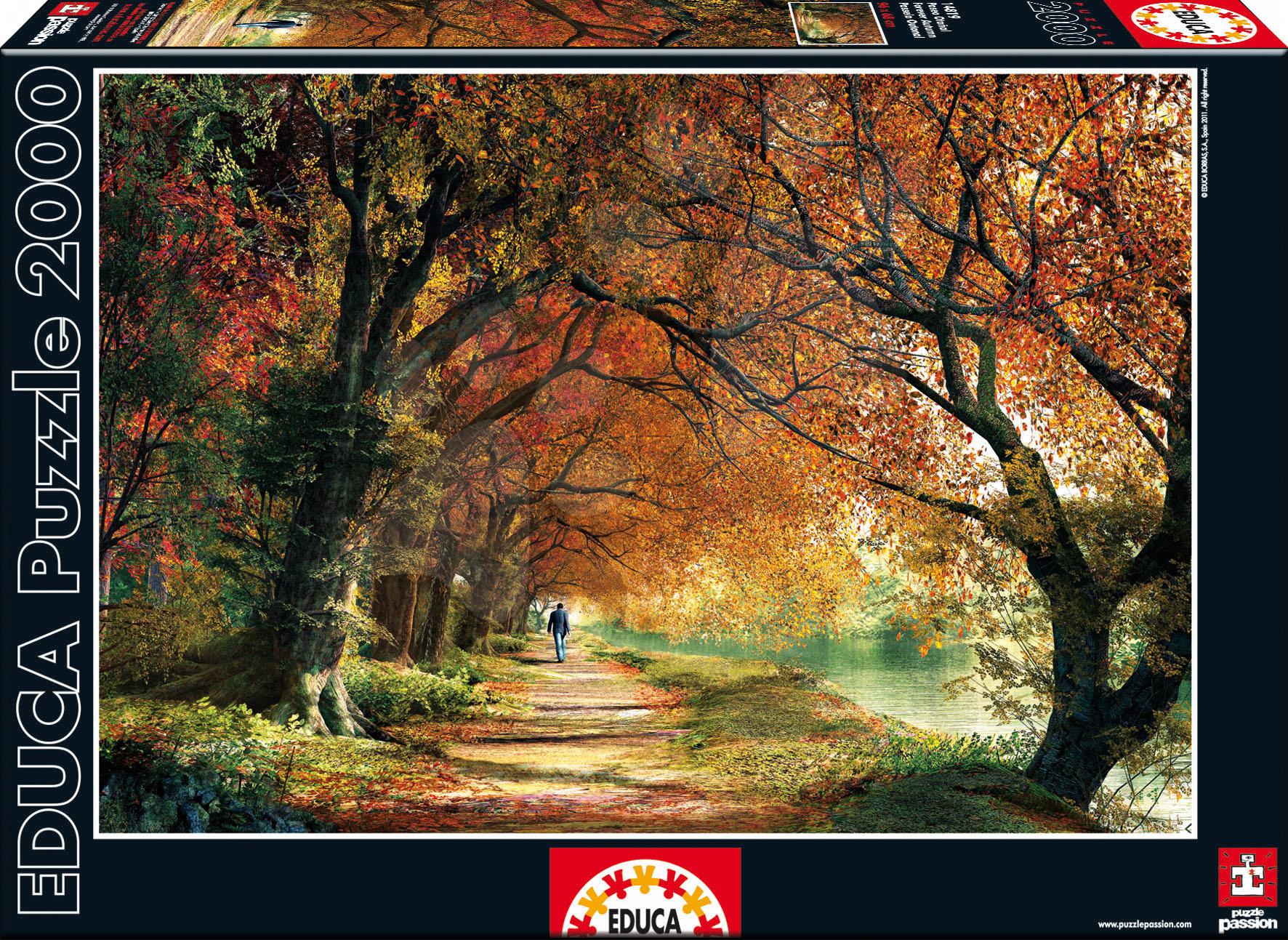 2000 delne puzzle - Educa 14819 PUZZLE 2000 delov Forever Autumn 96 x 68 cm + FIX PUZZLE LEPILO