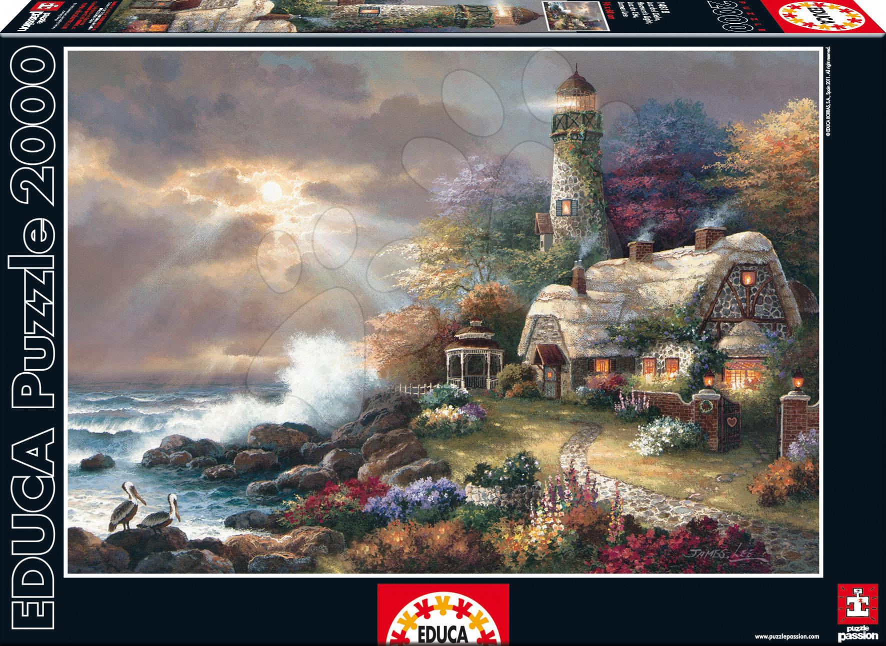 Régi termékek - Puzzle Mennyei Fény (James Lee) Educa 2000 db + Fix Puzzle ragasztó