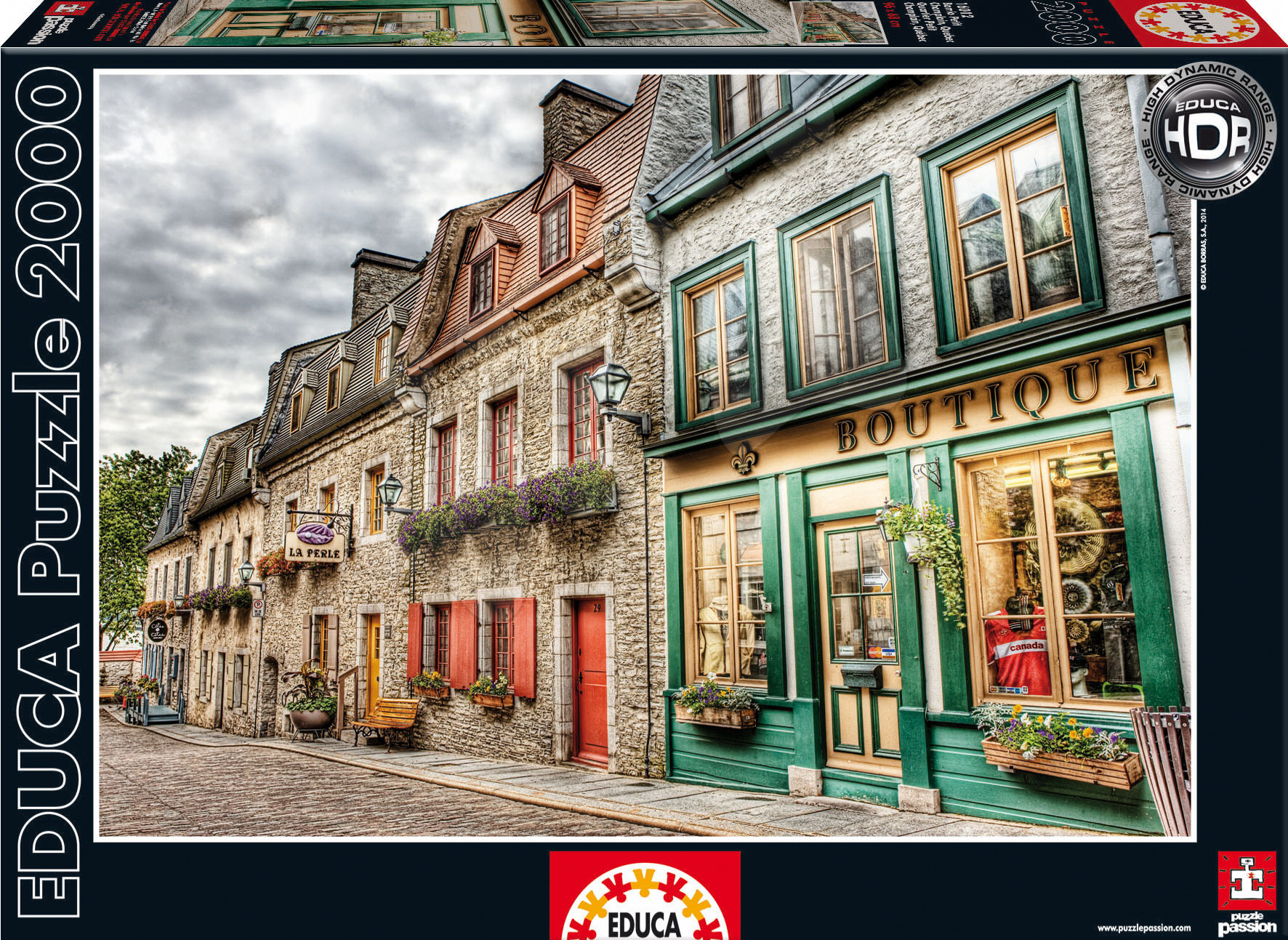 Puzzle 2000 dielne - Puzzle Petit Champlain Neighbourhood Educa 2000 dielov