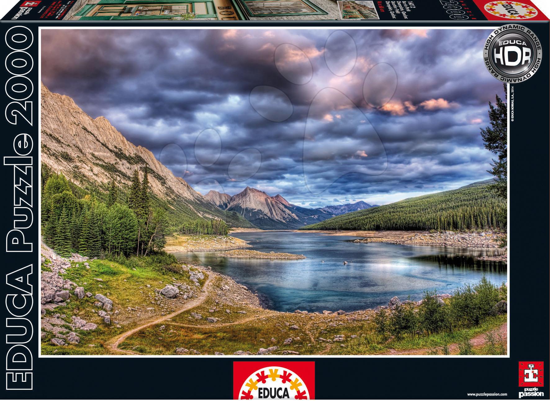 Staré položky - Puzzle Medicine Lake Educa 2000 dielov