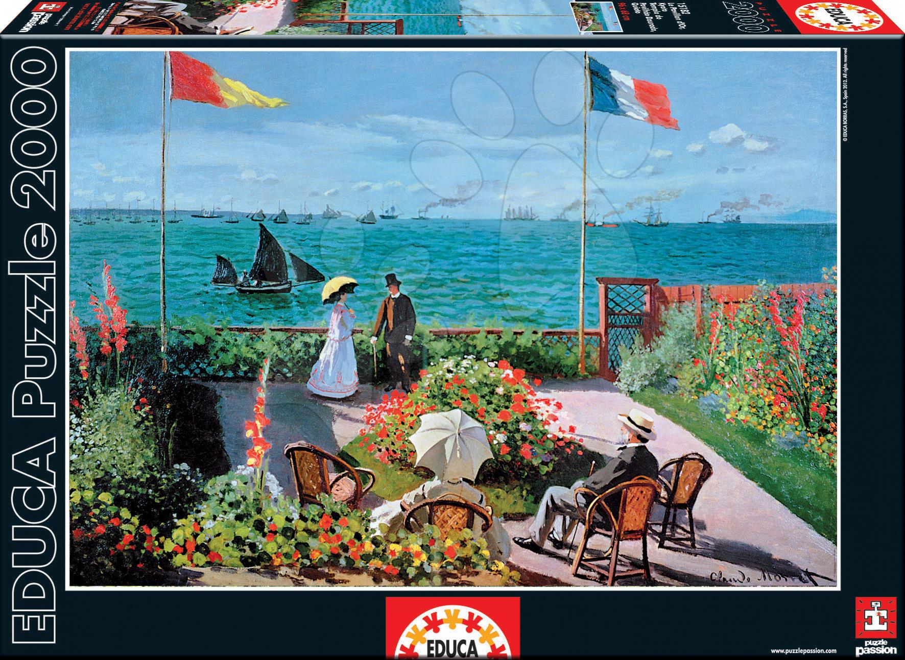 Puzzle The Terrace At Sainte-Adresse, Claude Monet Educa 2000 dílů
