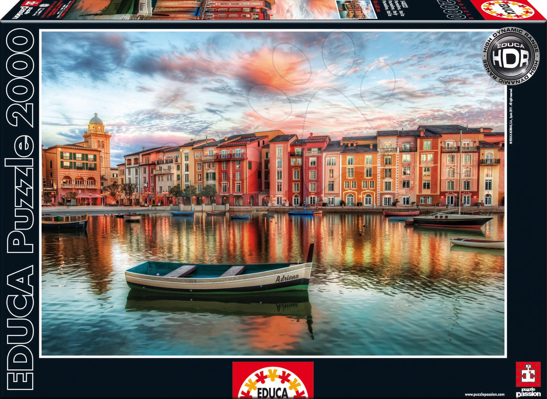 Stari vnosi - Educa 14822 PUZZLE 2000 delov Portofino / Italia / 96 x 68 cm + FIX PUZZLE LEPILO