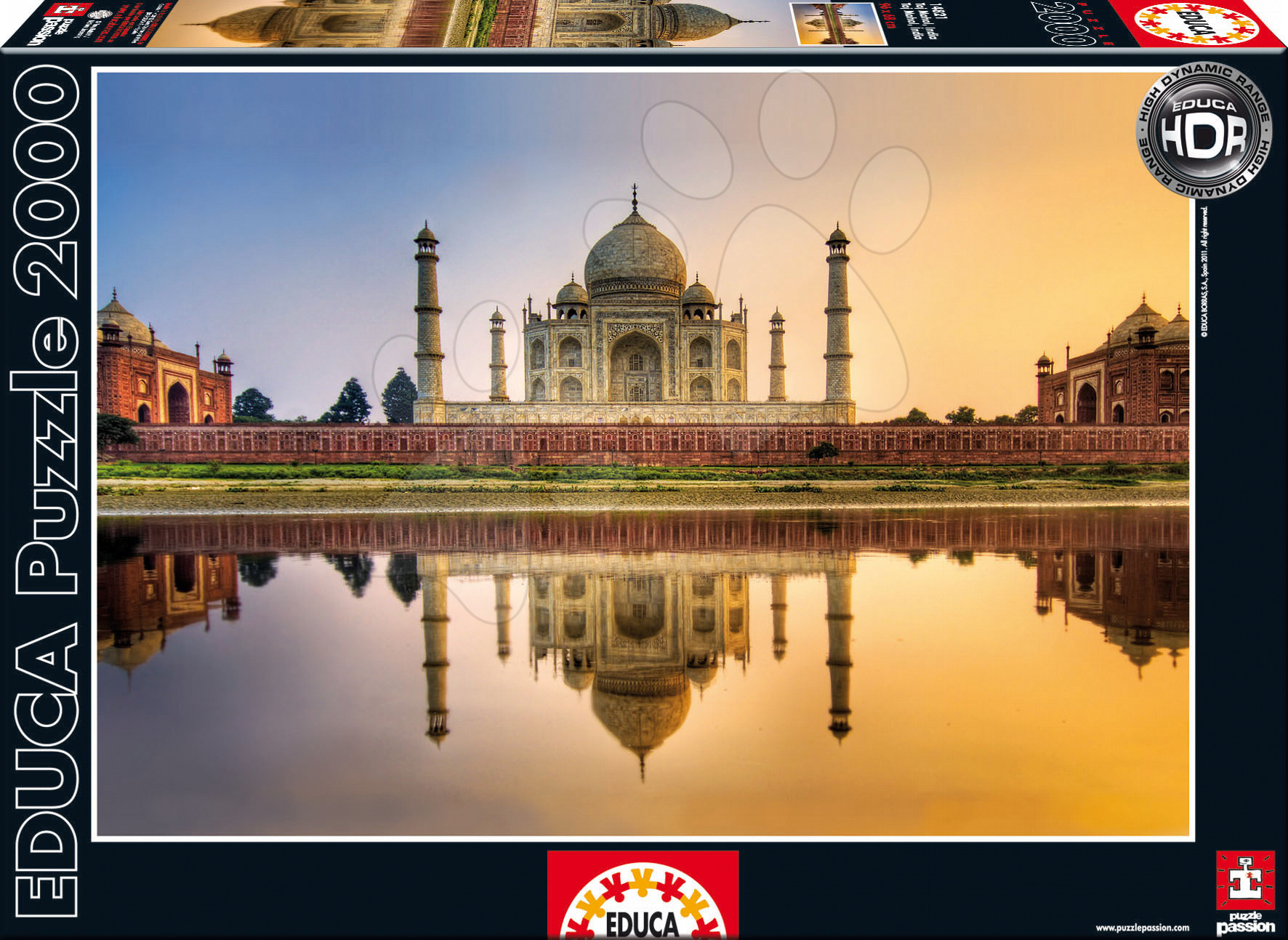 Puzzle Taj Mahal / India / Educa 2000 dílků a FIX PUZZLE LEPIDLO