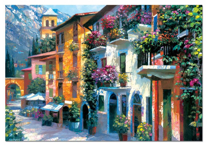 2000 darabos puzzle - Puzzle - Howard Behrens - Village Hideaway Educa 2000 db + Fix Puzzle ragasztó