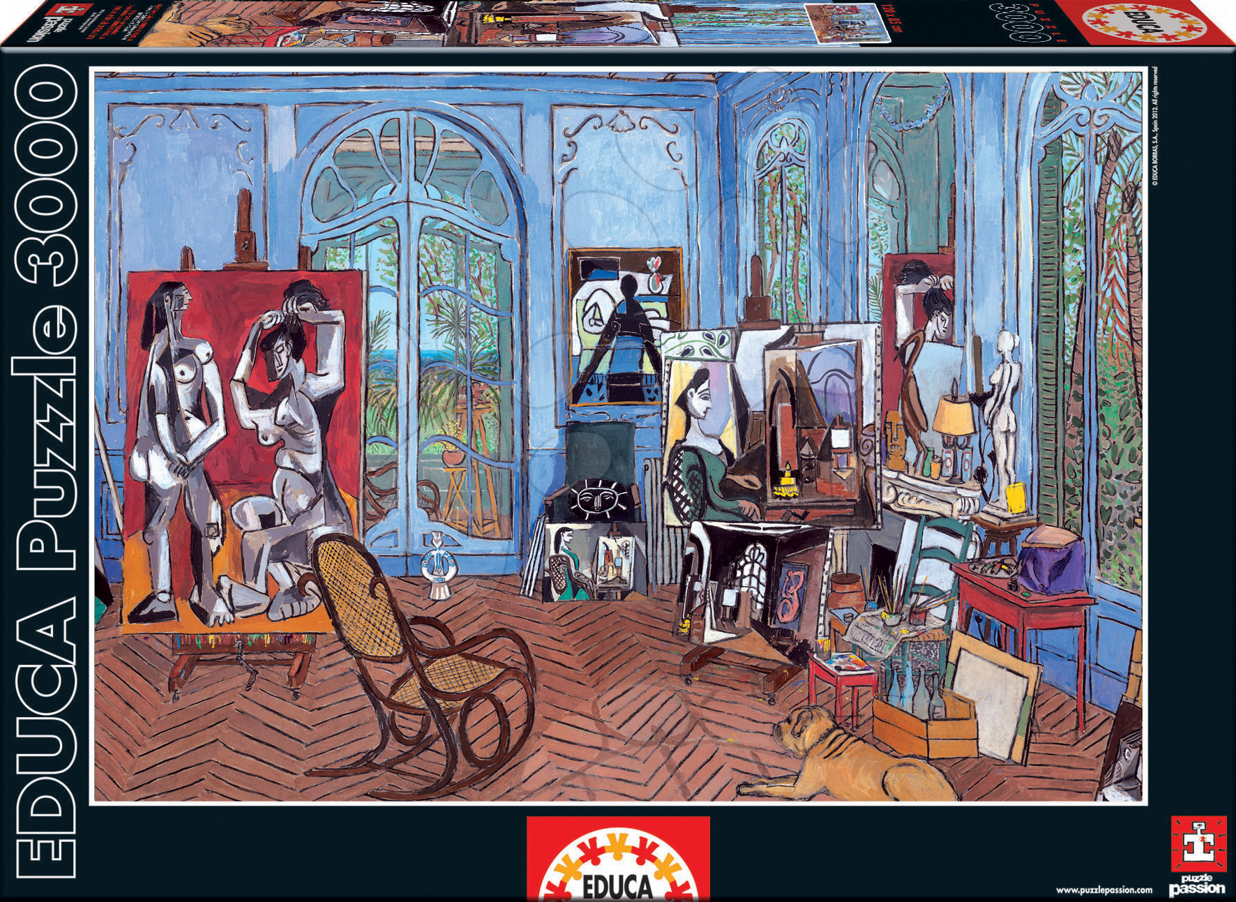 Puzzle Picasso Studio Educa 3000 dielov od 15 rokov