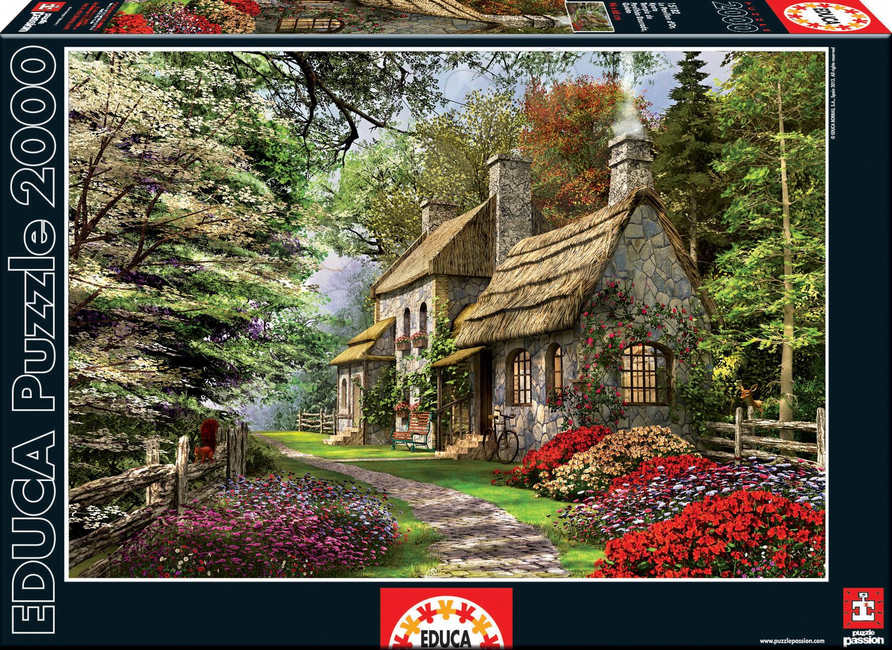 puzzle Carnation Cottage Educa 2000 dílků