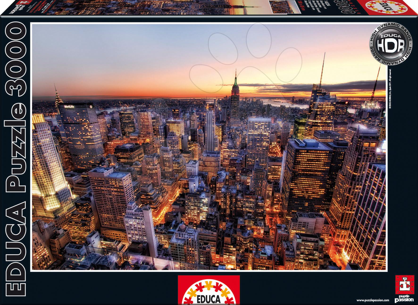 Puzzle Manhattan Západ slnka Educa 3000 dielov od 15 rokov