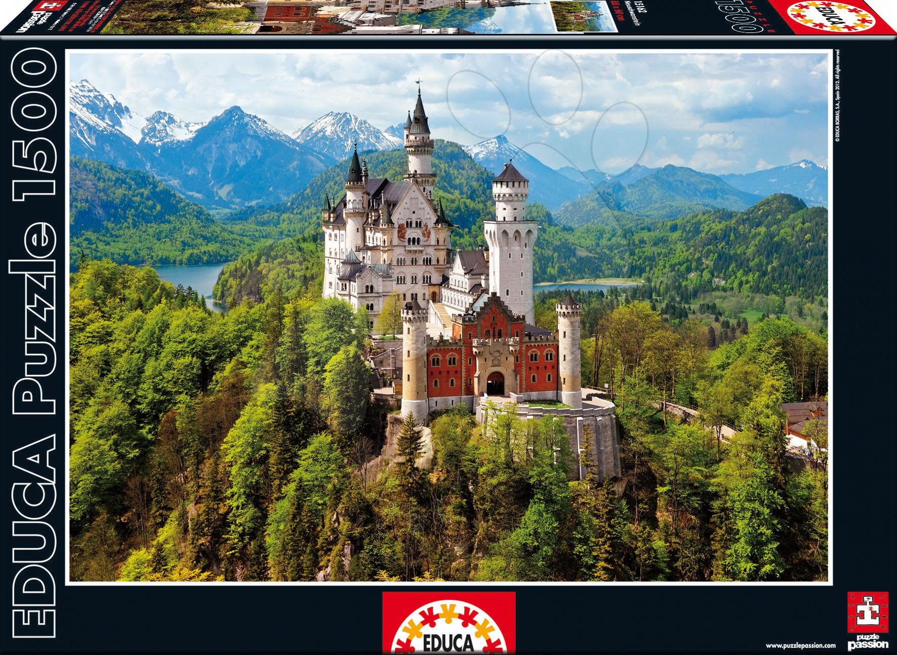 Puzzle 1500 dielne - Puzzle Neuschwanstein Educa 1500 dielov