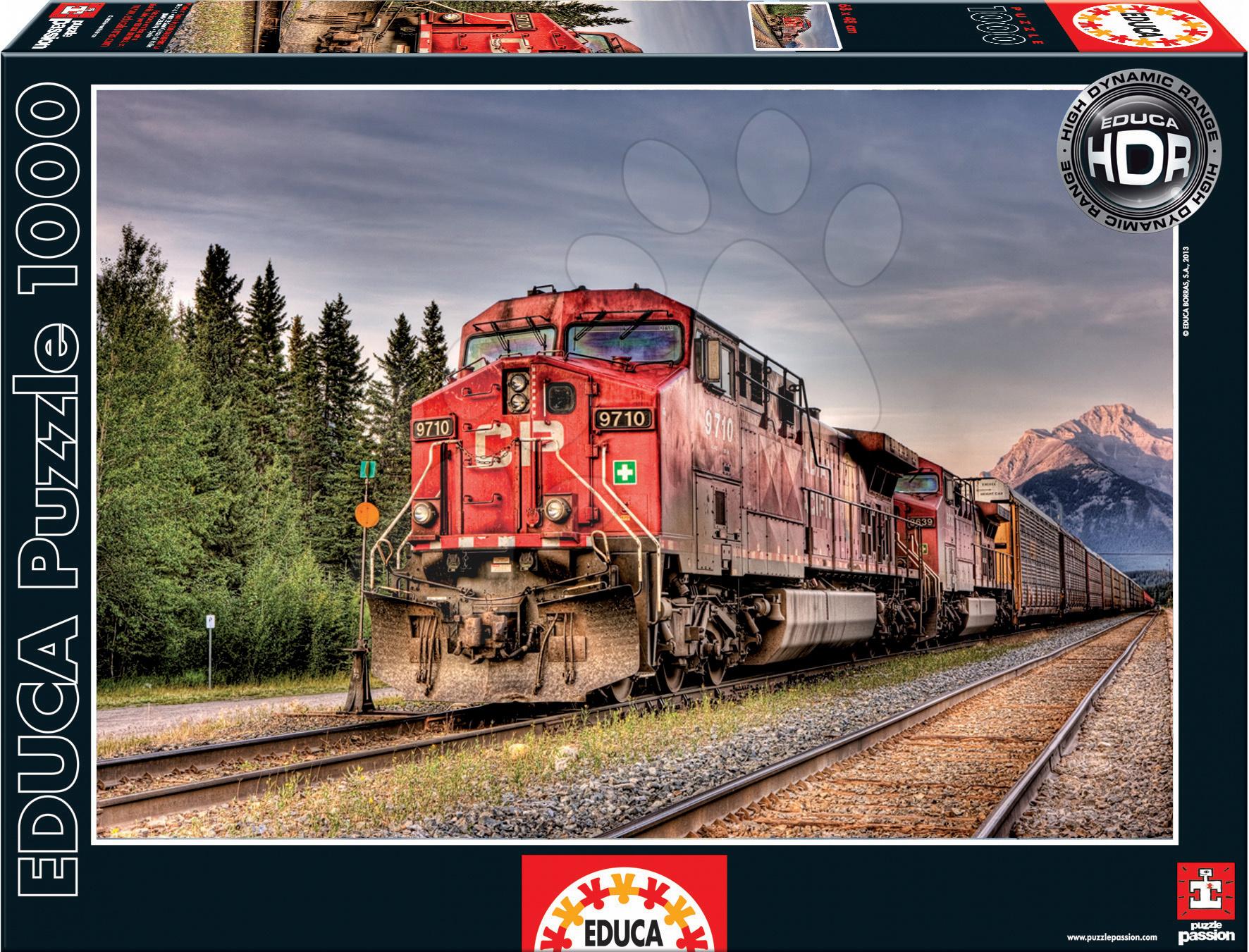Puzzle Canadian Pacific Train Educa 1500 dílků