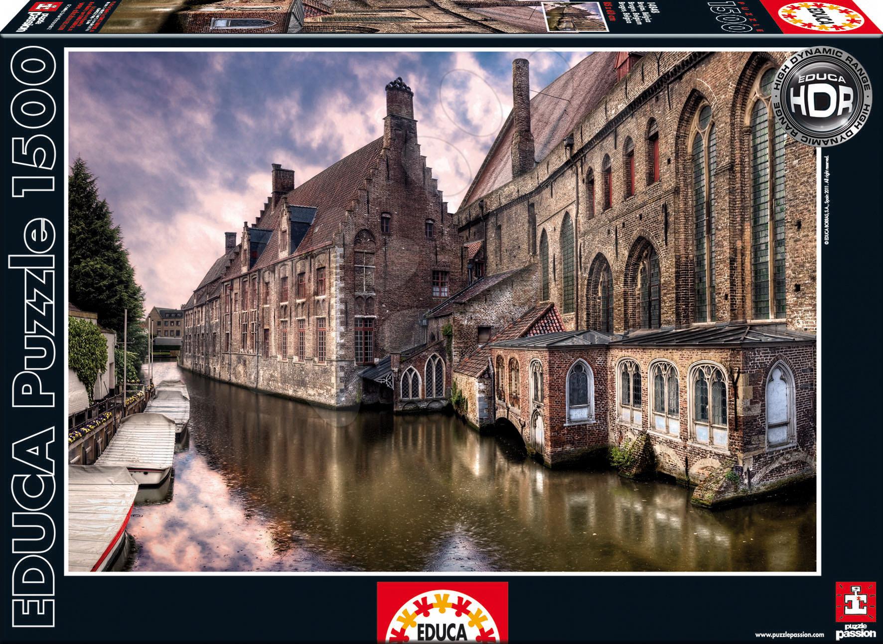 Puzzle 1500 dílků - Puzzle Bruges Educa 1 500 dílů