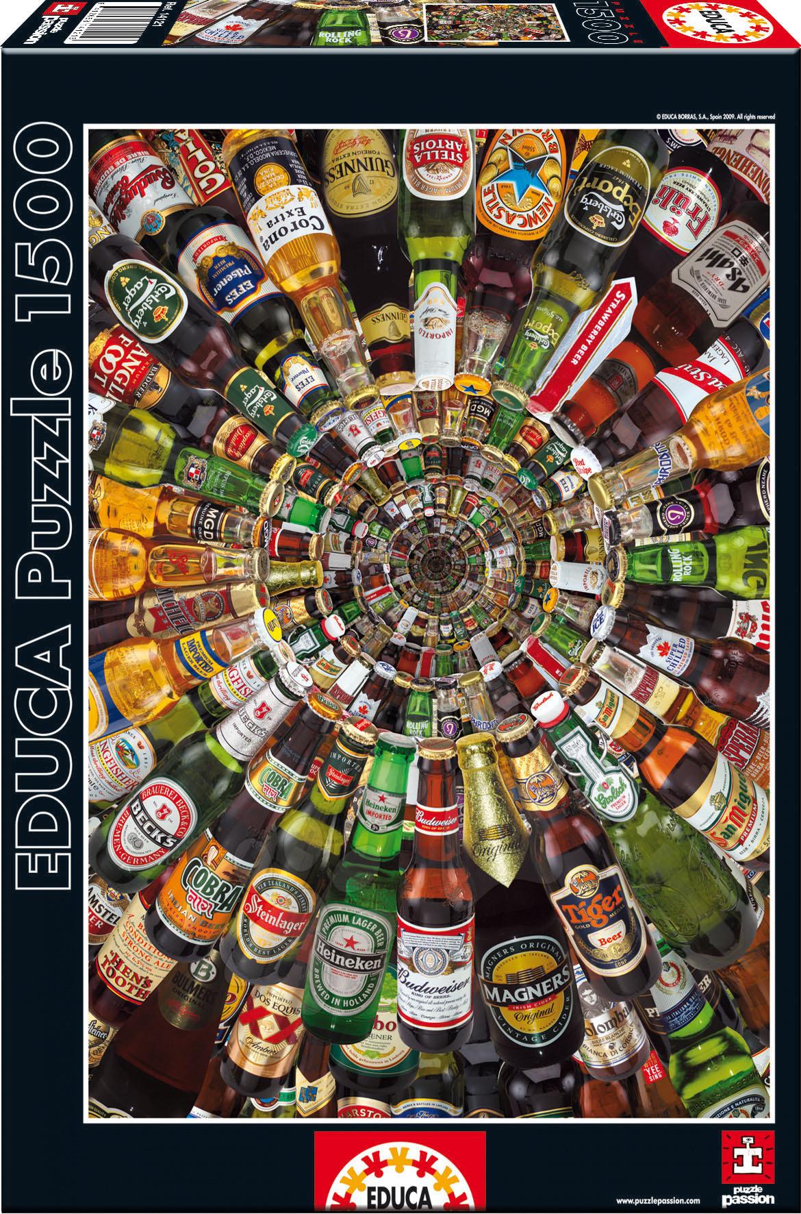 Puzzle 1500 dílků - Puzzle Tunel z piv Educa 1 500 dílů