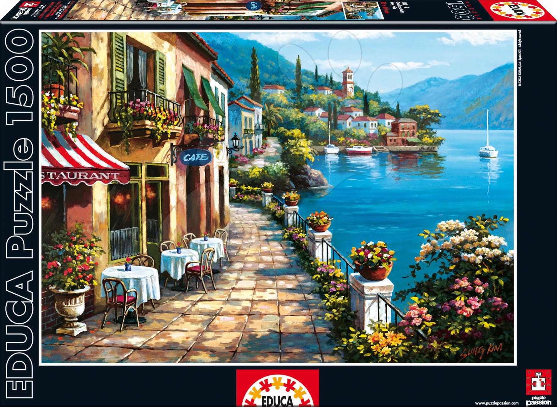 1500 darabos puzzle - Puzzle Overlook Cafe, Sung Kim Educa 1 500 db