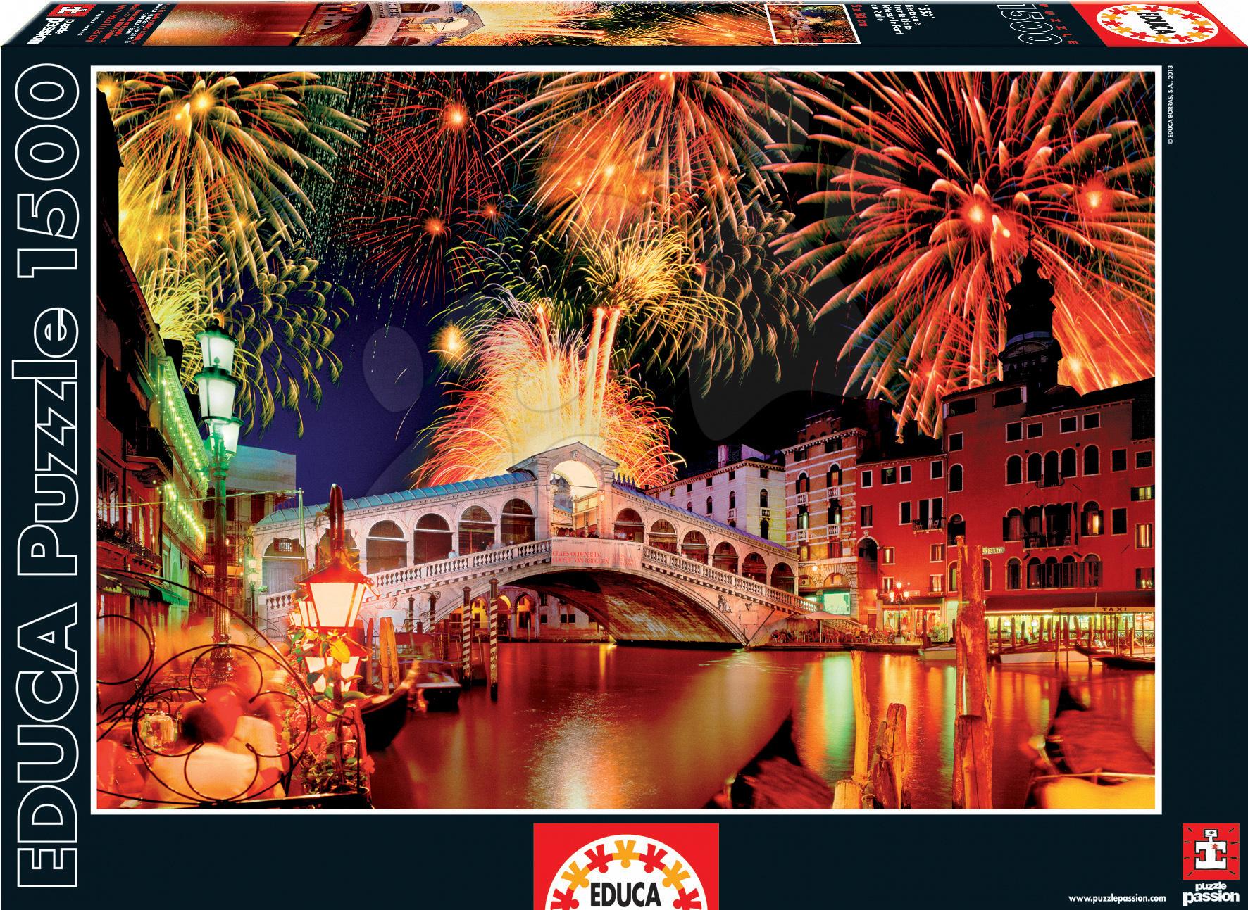 Puzzle Ohňostroj na moste v Rialto Educa 1500 dielov