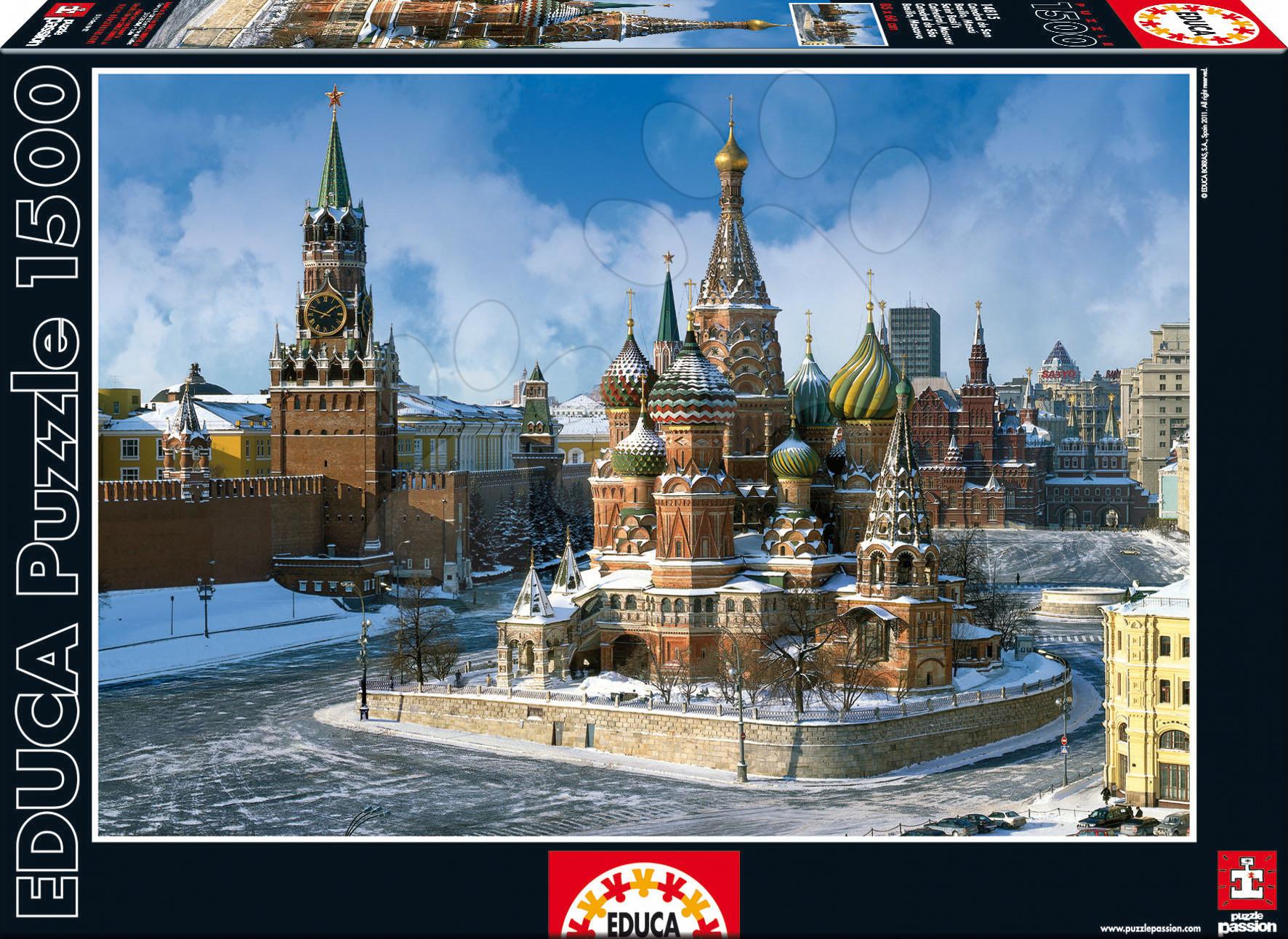 Puzzle Saint Basil s Cathedral, Moscow Educa 1500 dílků a FIX PUZZLE LEPIDLO