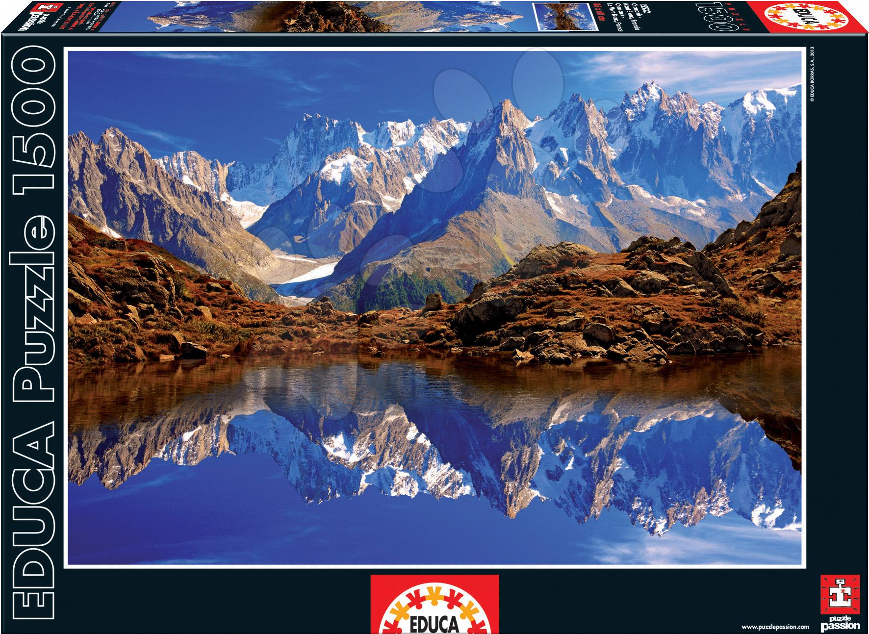 Puzzle 1500 dielne - Puzzle Chamonix - Mont Blanc Educa 1500 dielov