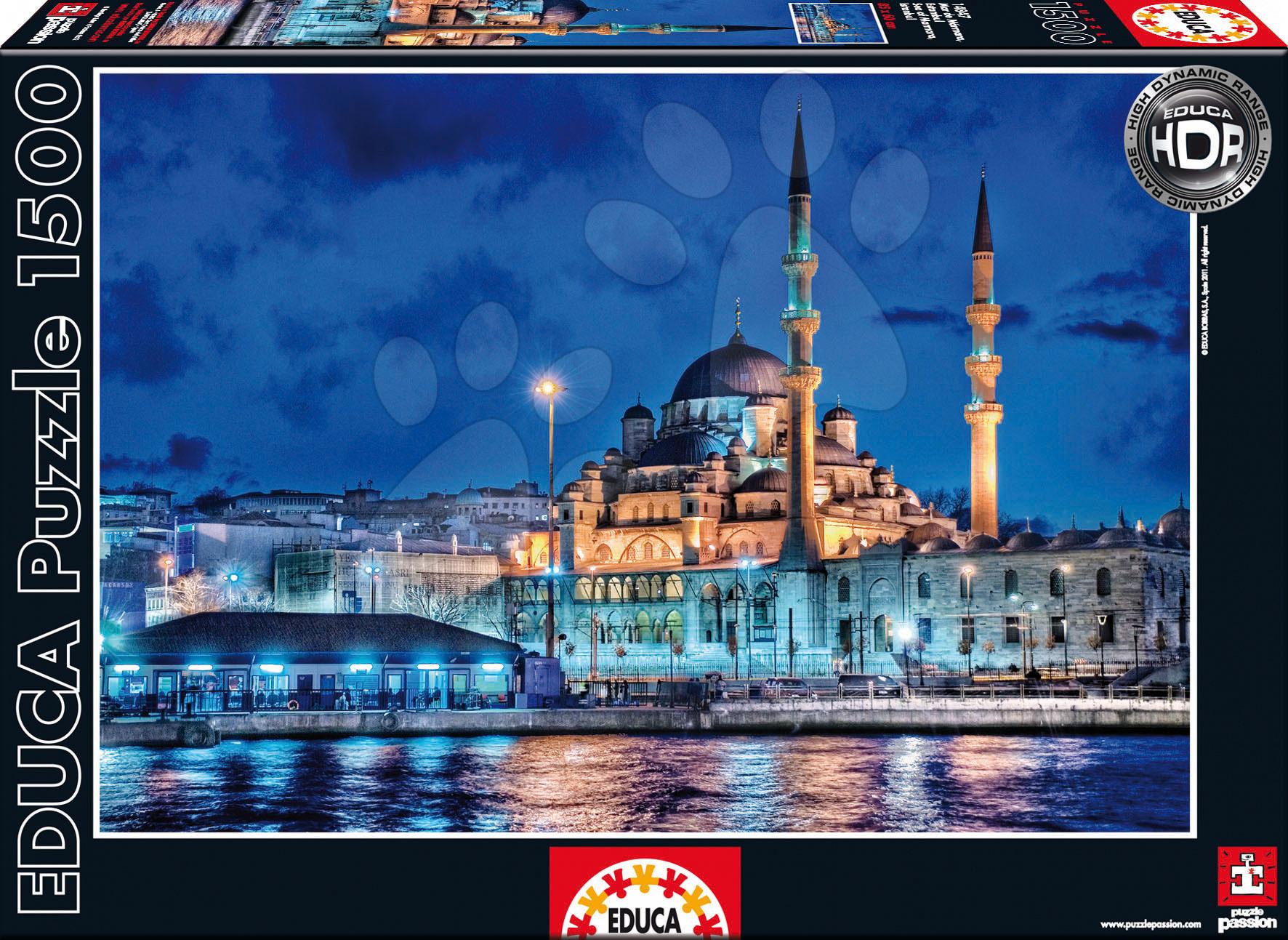 1500 delne puzzle - Educa 14847 PUZZLE 1500 delov Sea of Marmara / Istanbul / 85 x 60 cm + FIX PUZZLE LEPILO