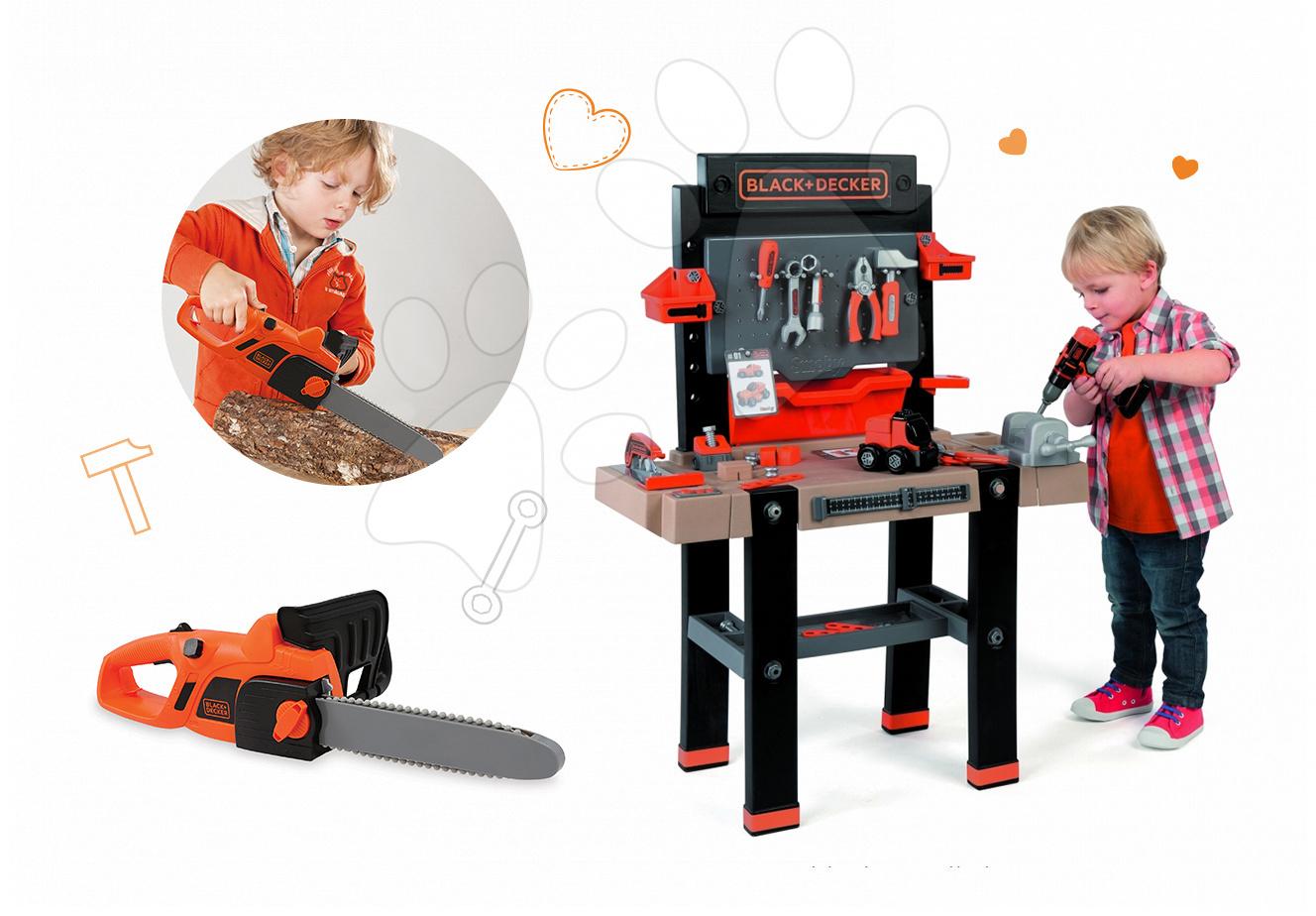 Smoby pracovná dielňa pre deti Black+Decker a motorová píla 360702-1