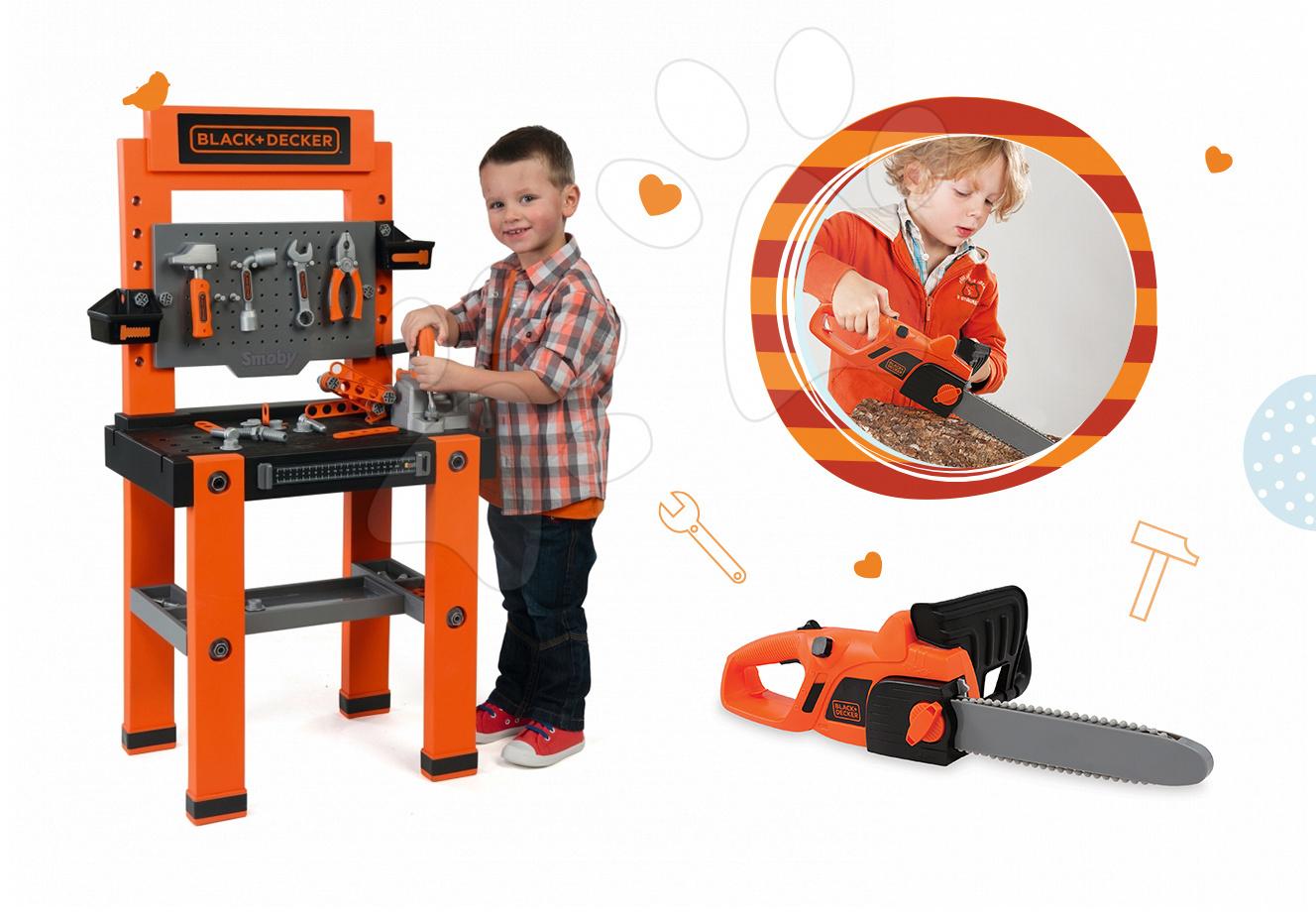 Smoby pracovná dielňa pre deti Black+Decker a píla 360700-4