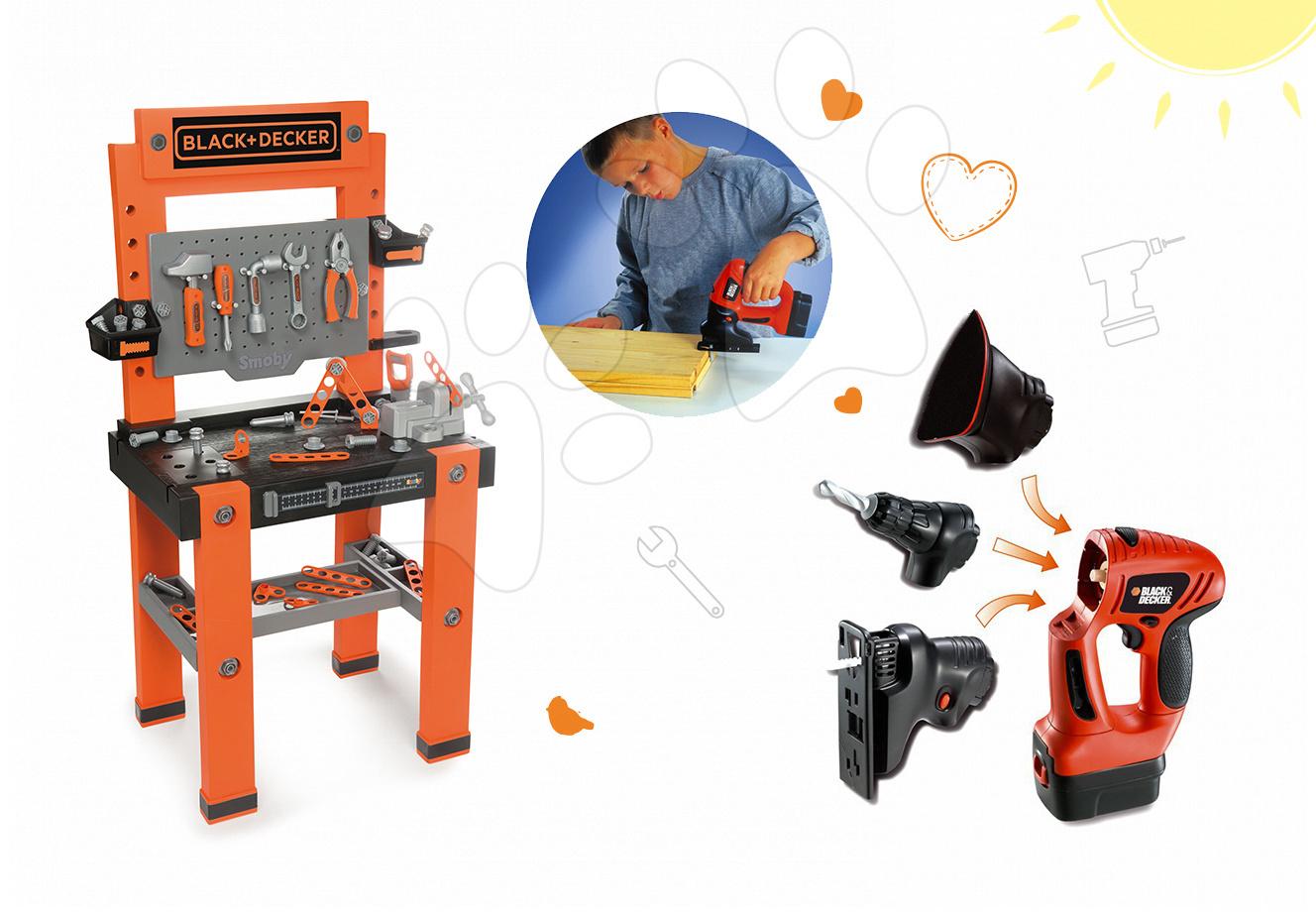 Smoby pracovná dielňa pre deti Black+Decker a elektronický set Quatro 360700-2