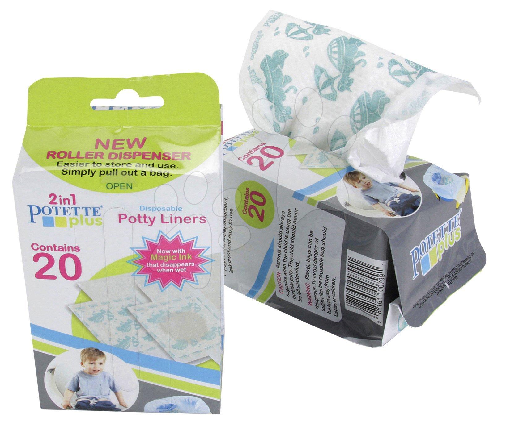 Náhradné náplne do cestovného nočníka/redukcie Potette Plus 20 kusov od 15 mesiacov