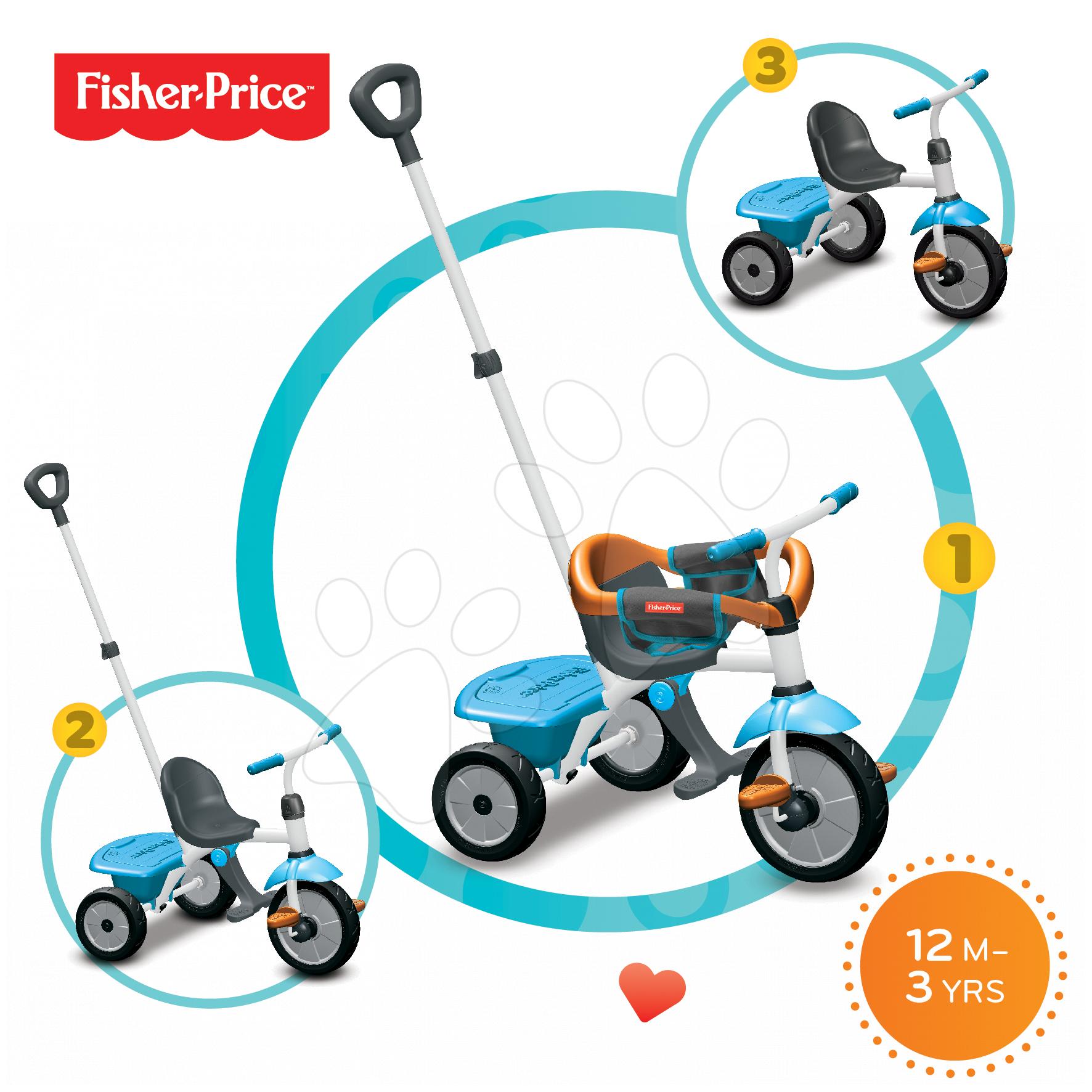 Tříkolka Fisher-Price Jolly smarTrike modro-oranžová od 12 měsíců