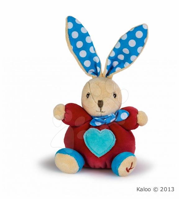 Plyšové zajace - Plyšový zajačik Colors-Mini Chubbies Heart Kaloo 12 cm v darčekovom balení pre najmenších