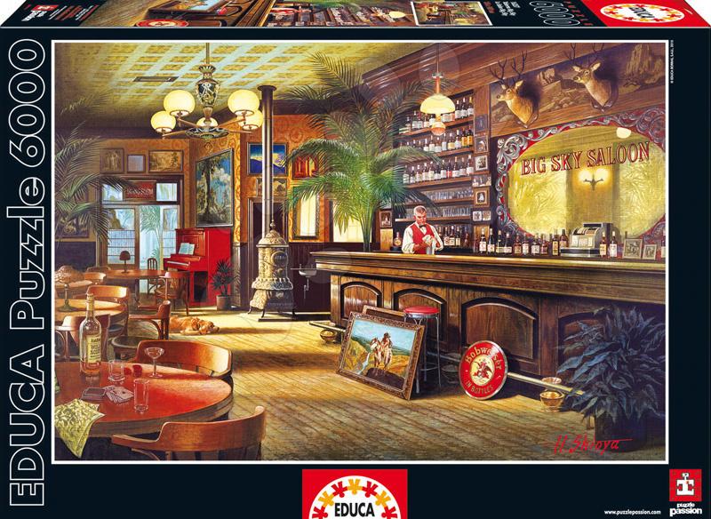 Puzzle 4000 - 8000 dielne - Puzzle Genuine Big Sky Saloon Educa 6000 dielov od 15 rokov