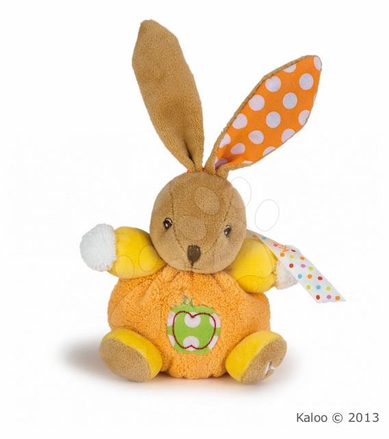Plyšové zajace - Plyšový zajačik Colors-Mini Chubbies Apple Kaloo 12 cm v darčekovom balení pre najmenších