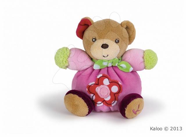 Plyšový medvídek Colors-Mini Chubbies Flower Kaloo 12 cm v dárkovém balení pro nejmenší