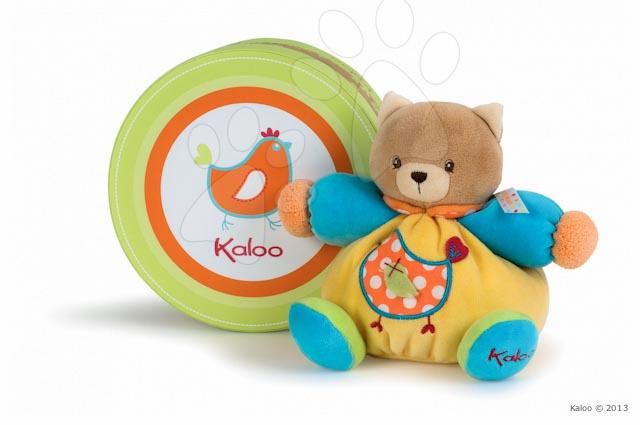 Hračky pre bábätká - Plyšová mačička Colors-Chubby Bear Cat Chick Kaloo 18 cm v darčekovom balení pre najmenších