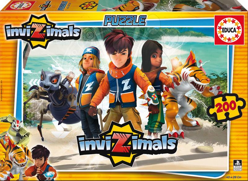 Detské puzzle od 100-300 dielov - Puzzle InviZimals Educa 200 dielov od 6 rokov