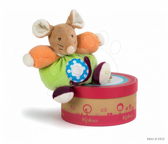 Plyšové zvieratká - Plyšová myška Colors-Chubby Mouse Snail Kaloo 18 cm v darčekovom balení pre najmenších