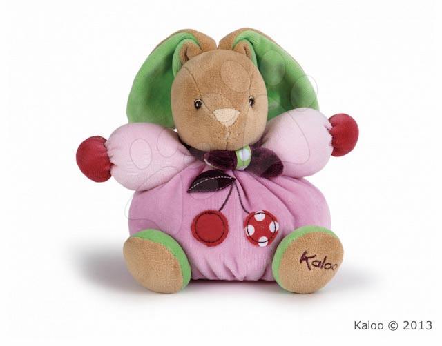 Plüss nyuszi Colors-Chubby Rabbit Cherry Kaloo 18 cm ajándékcsomagolásban legkisebbeknek