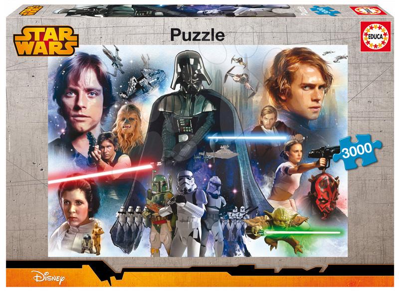 Puzzle 3000 dielne - Puzzle Hviezdne vojny Educa 3000 dielov od 15 rokov