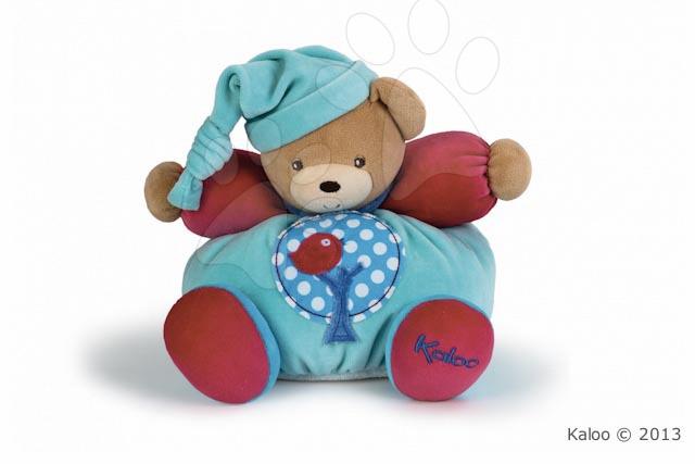 Plyšové medvede - Plyšový medvedík Colors-Chubby Bear Apple Tree Kaloo s hrkálkou 25 cm v darčekovom balení pre najmenších