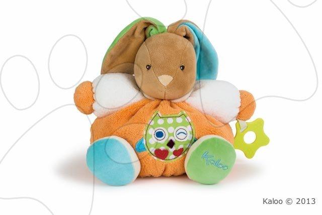 Plyšový králíček Colors-Chubby Rabbit Owl Kaloo s chrastítkem a kousátkem 25 cm v dárkovém balení pro nejmenší