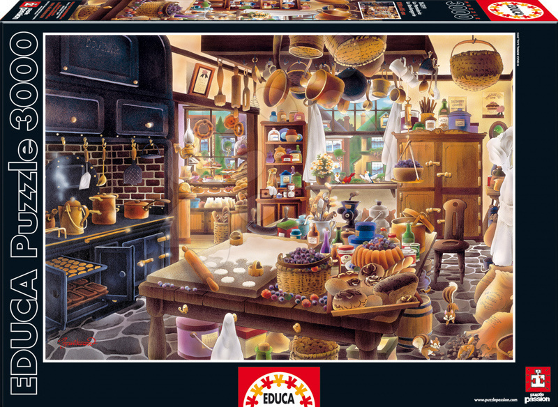 Puzzle 3000 dielne - Puzzle Genuine Pekáreň Educa 3000 dielov od 15 rokov